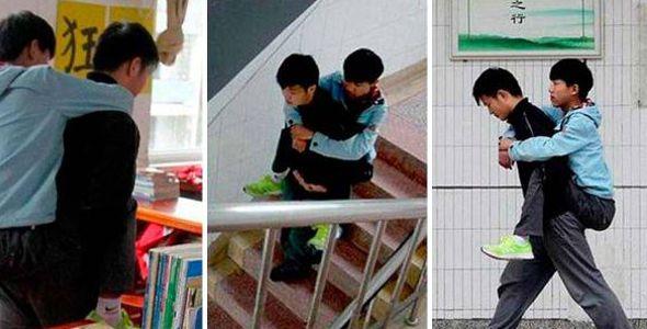 Un estudiante Ejemplar ayuda a su amigo con discapacidad durante casi 3 años